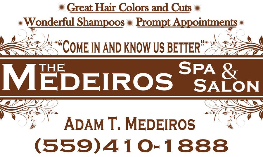 #157 for Design a Banner for a Salon and Spa by akritidas21