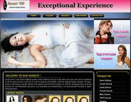 nº 13 pour Design web page for scorts woman (XXX) par franso82