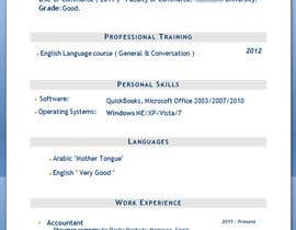#2 for Designing a template for resume (curriculum) af Aehandasa