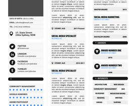 nº 21 pour Designing a template for resume (curriculum) par fo2shawy001
