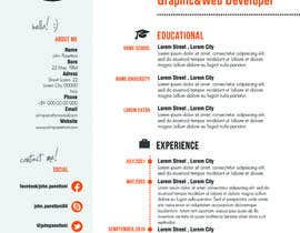 #25 for Designing a template for resume (curriculum) af fo2shawy001