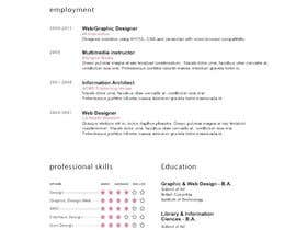 nº 28 pour Designing a template for resume (curriculum) par fo2shawy001