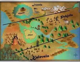 nº 17 pour FUN JOB: Illustrate a map for a Fantasy game based in old mythology par mainulislam85