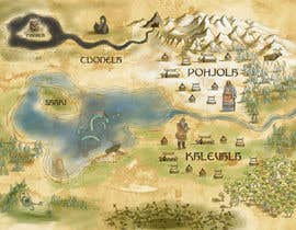 nº 3 pour FUN JOB: Illustrate a map for a Fantasy game based in old mythology par timoffei