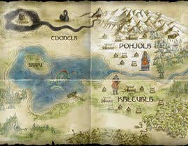 nº 13 pour FUN JOB: Illustrate a map for a Fantasy game based in old mythology par timoffei