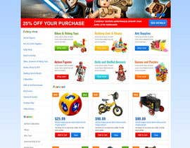 nº 20 pour Design website for toyshop par TemplateDigitale