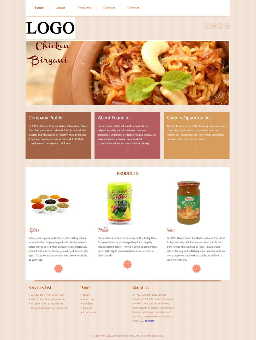 Bài tham dự cuộc thi #4 cho Design a Website Mockup (Logo, Textual Content and Structure is Available)
