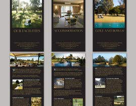 #23 untuk Brochure Design for Howlong Country Golf Club oleh designbykl