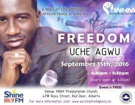 Nro 28 kilpailuun Freedom Concert Flyer - September 2016 käyttäjältä Quay3010