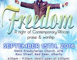Nro 19 kilpailuun Freedom Concert Flyer - September 2016 käyttäjältä crscarey2016