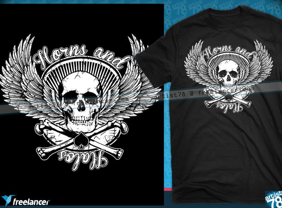 #27 for Design a T-Shirt, HAT AND BANDANAS for BIKERS by artist78