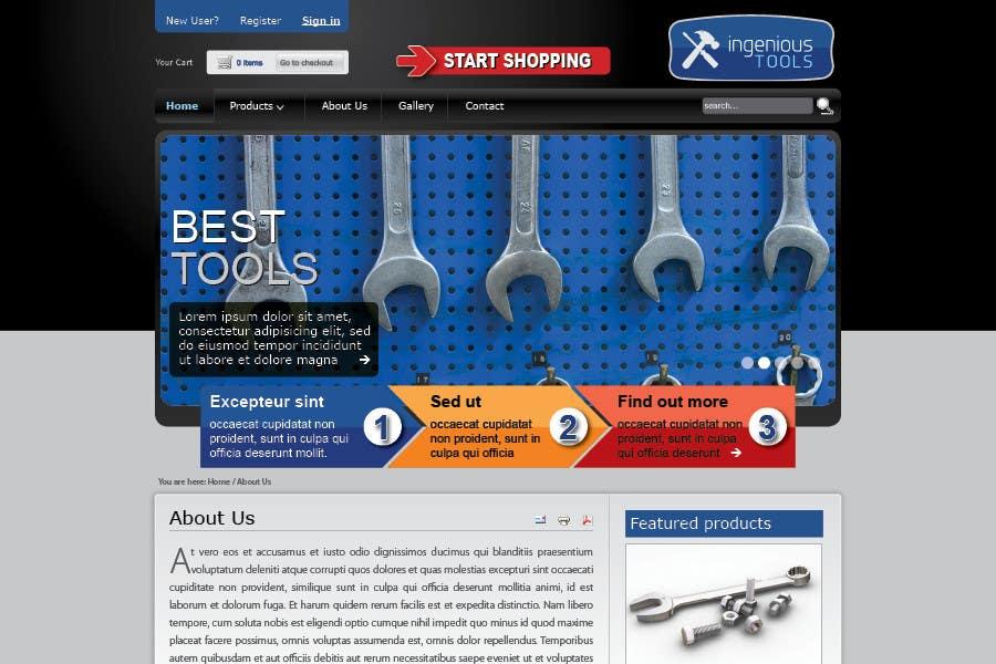 Participación en el concurso Nro.17 para Website Design for Ingenious Tools