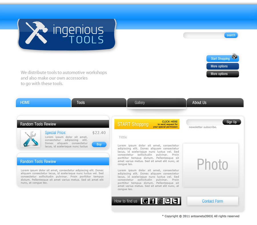 Entri Kontes #8 untukWebsite Design for Ingenious Tools