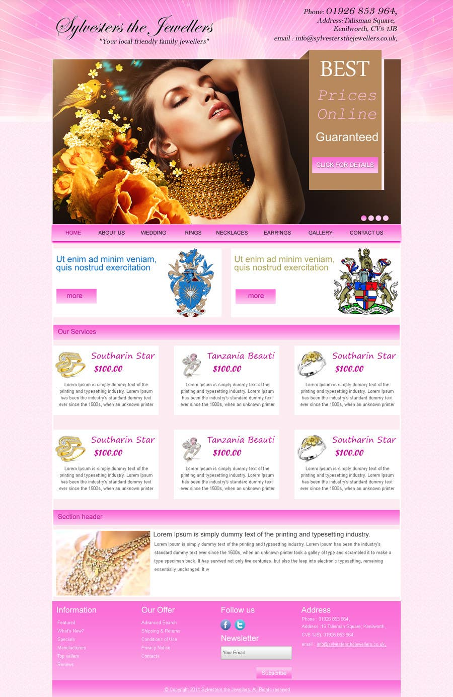 #6 for Website design for a jewellers - Please read the brief. by webidea12