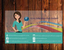 nº 10 pour Design some Business Cards for Atlas Administrative Support par TheDesignA