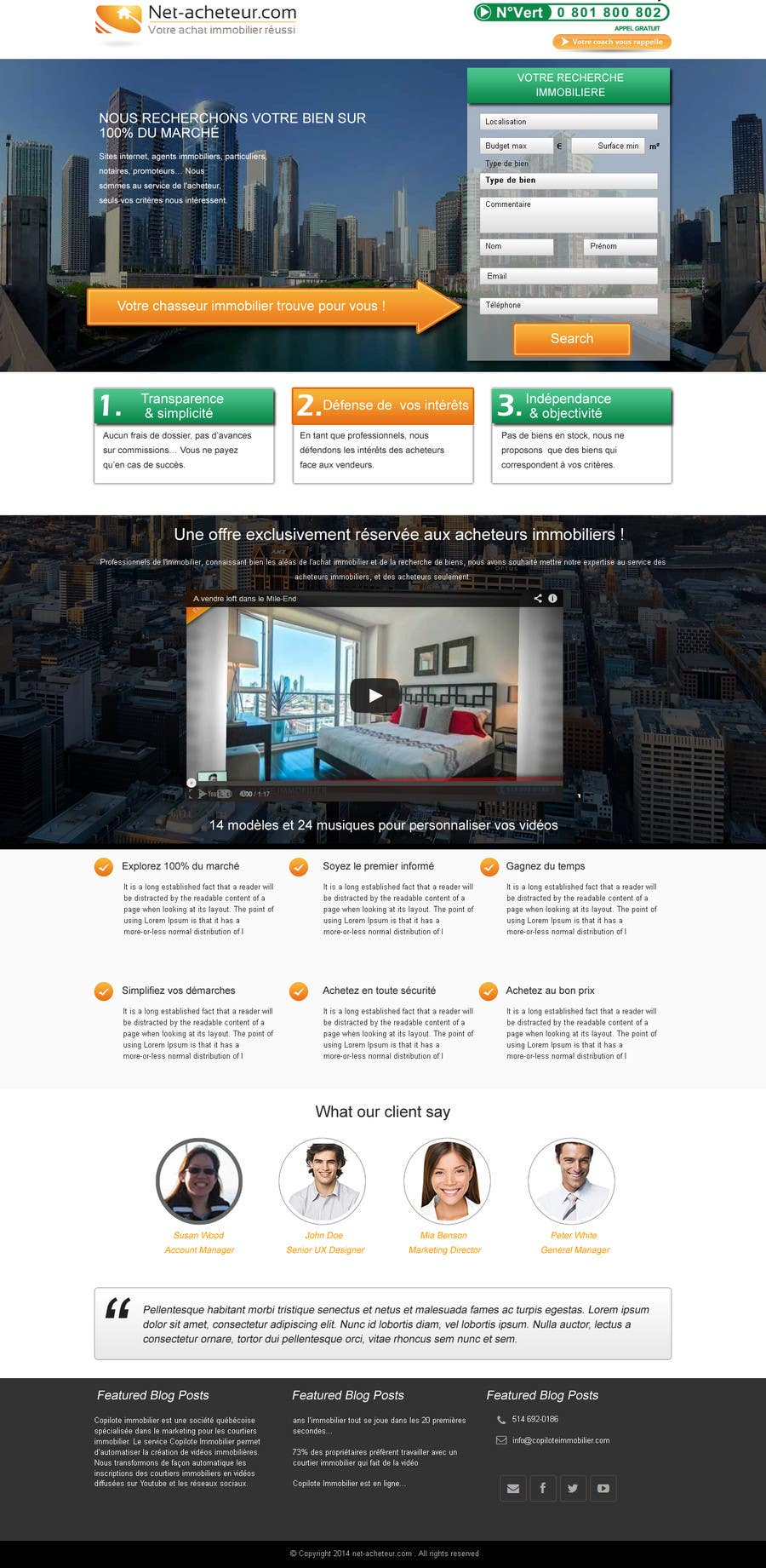 #9 for Real Estate Service - NEW Landing Pages by webidea12