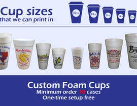 #7 for Custom Foam Cups Flyer by viktornikonyuk
