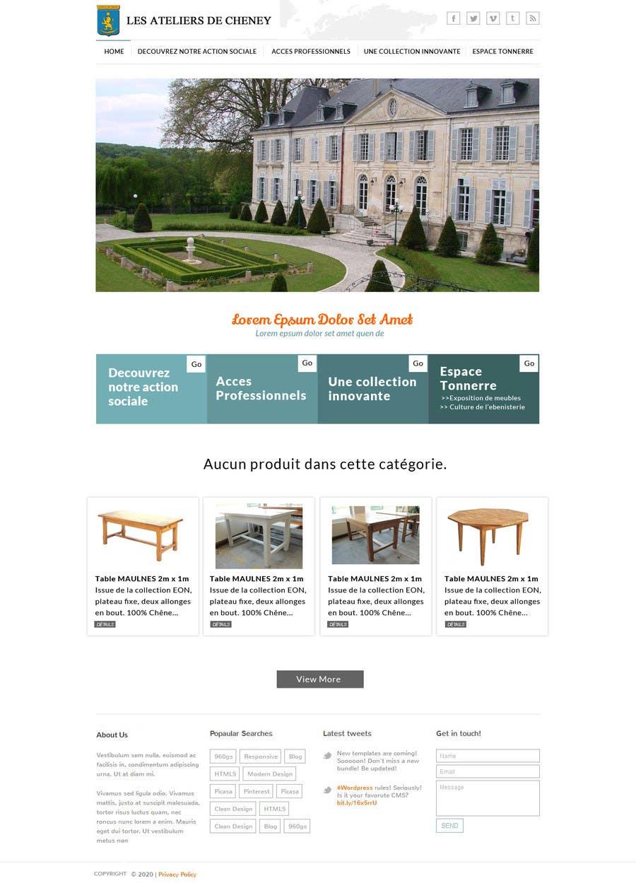 Proposition n°2 du concours Design a Website Mockup for Ateliers de Cheney
