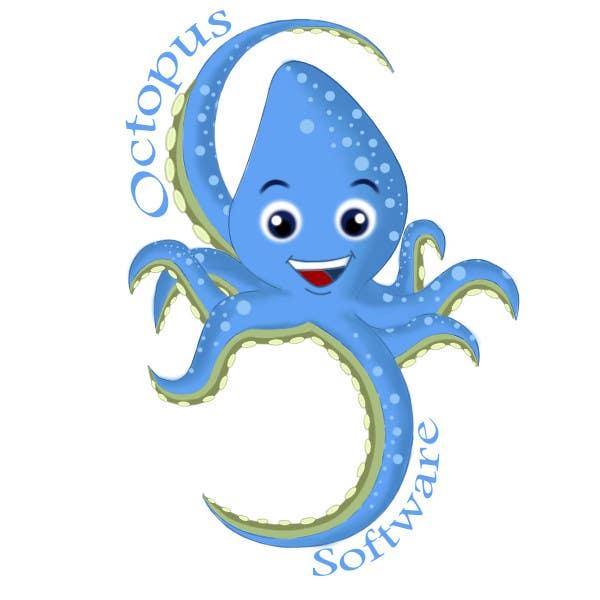 Kilpailutyö #278 kilpailussa Design a Logo of a cartoon octopus