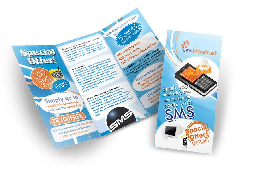 Contest Entry #                                        15                                      for                                         Brochure Design for SMS Broadcast