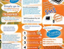 #23 para Brochure Design for SMS Broadcast por creationz2011