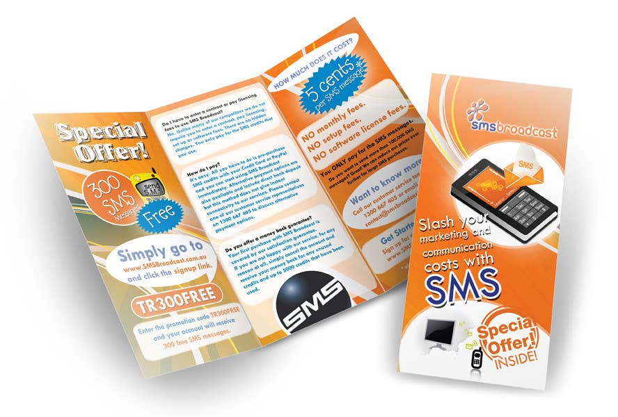 Contest Entry #                                        16                                      for                                         Brochure Design for SMS Broadcast