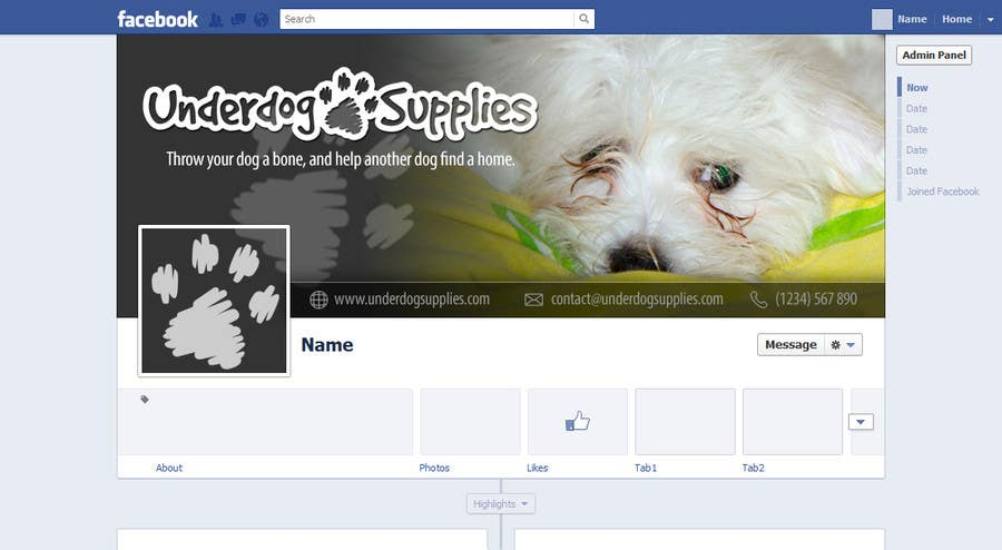 Entry #18 by dalizon for Design a Banner for Facebook