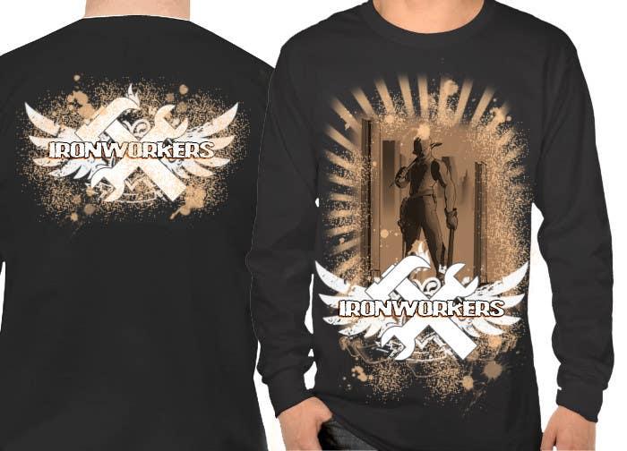 Penyertaan Peraduan #5 untuk Design a T-Shirt for ironworkers members