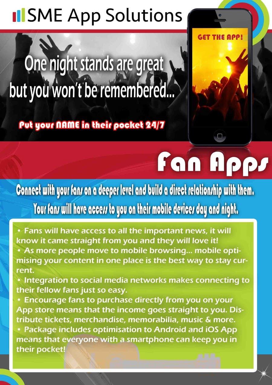 Bài tham dự cuộc thi #13 cho Fact sheet/flyer for a Fan Smartphone App