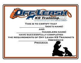#63 untuk Design a Certificate of Completion For Dog Training Business oleh dees12