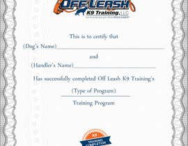 #71 untuk Design a Certificate of Completion For Dog Training Business oleh oceanpixels