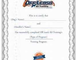 #72 untuk Design a Certificate of Completion For Dog Training Business oleh oceanpixels