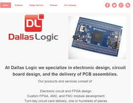 #10 untuk Design a Website Mockup for Dallas Logic Corporation oleh SuciuBogdan