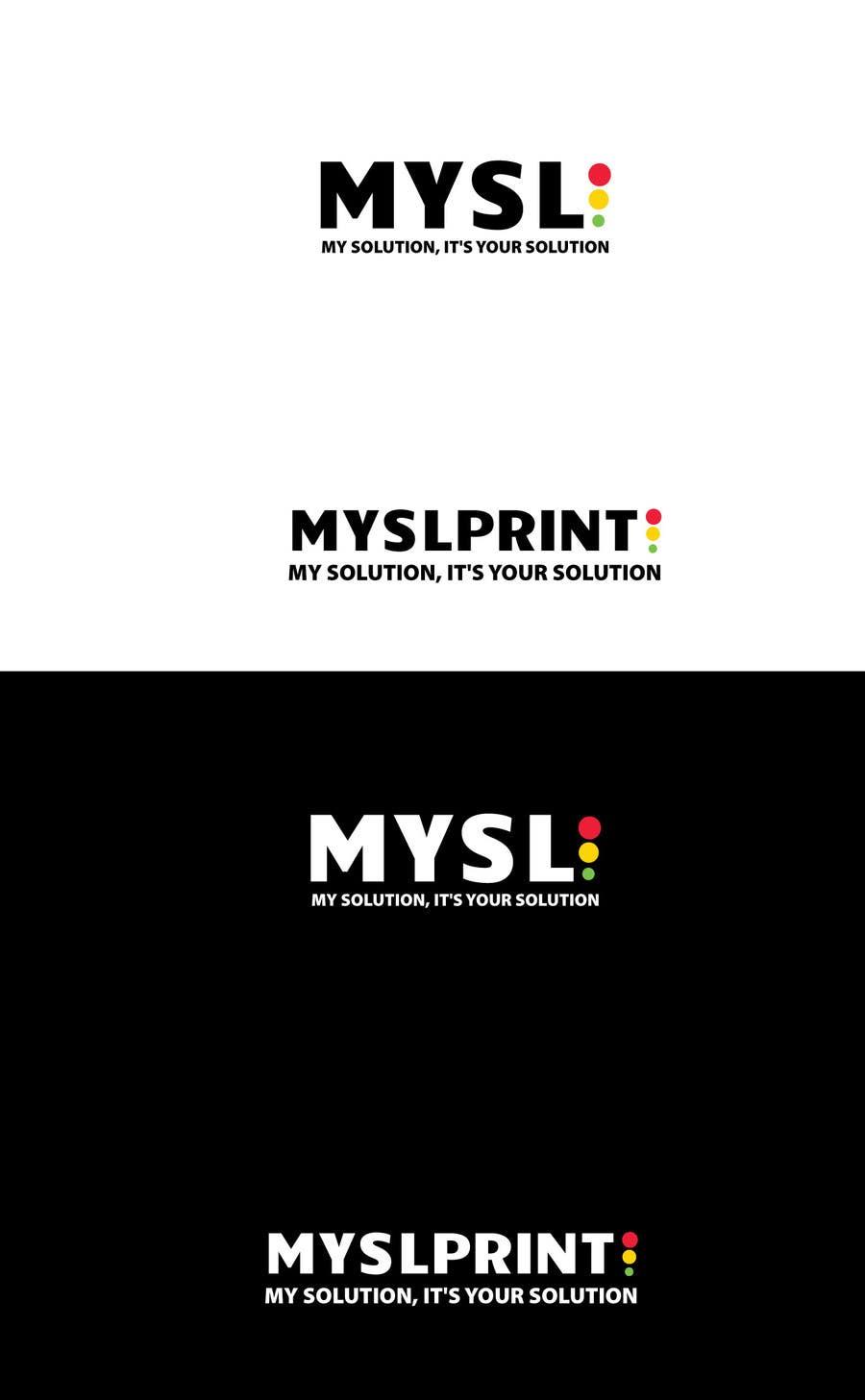 """Bài tham dự cuộc thi #4 cho Design a Logo for PRINTING company """"MYSLprint"""""""