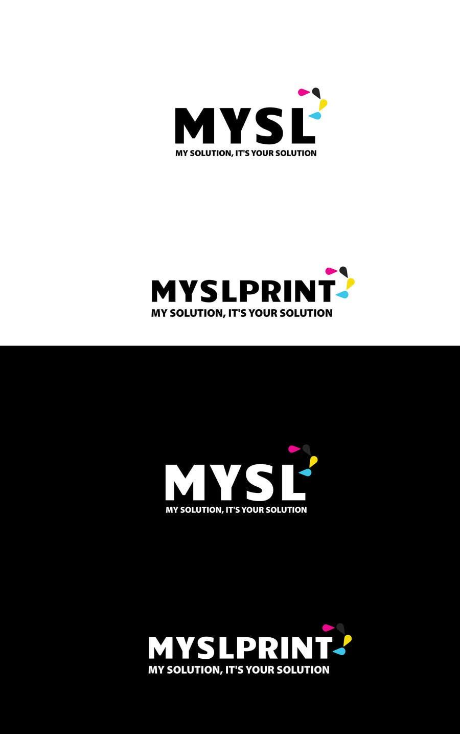 """Bài tham dự cuộc thi #24 cho Design a Logo for PRINTING company """"MYSLprint"""""""