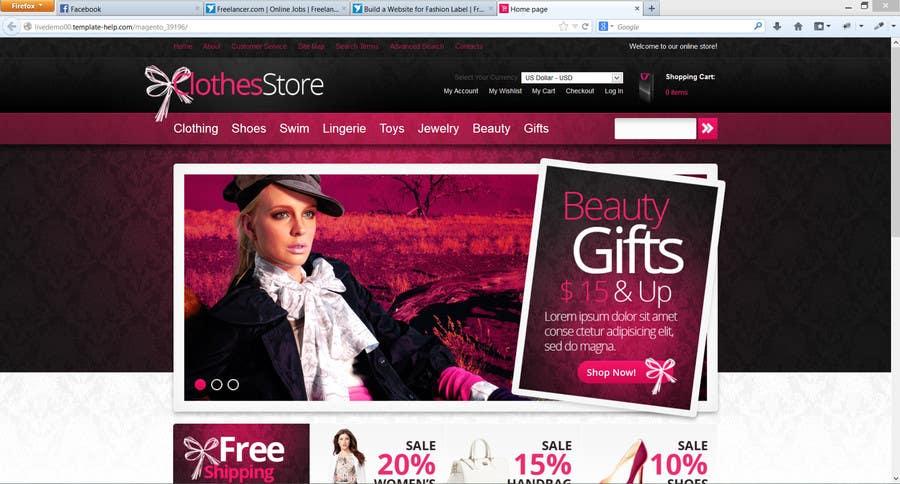 Bài tham dự cuộc thi #8 cho Build a Website for Fashion Label
