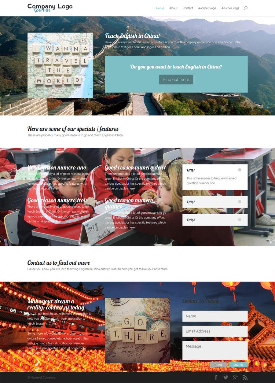 #6 for 10 Page Wordpress Website for an English Teacher Training Company by aims90