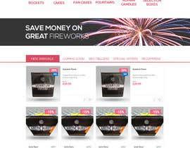 Nro 2 kilpailuun Design a WordPress Mockup Fireworks Store käyttäjältä natterum