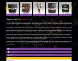 Nro 6 kilpailuun Design a WordPress Mockup Fireworks Store käyttäjältä AyazAhemadKadri