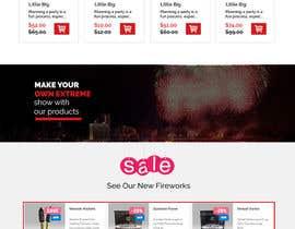Nro 4 kilpailuun Design a WordPress Mockup Fireworks Store käyttäjältä Mockupmastr