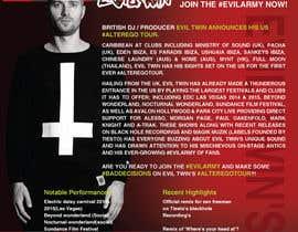 MMmahesh tarafından Design a Artist/DJ One Sheet için no 6