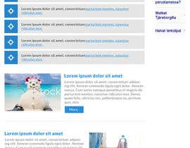 nº 12 pour Redesign the Content Area of a Web Page (Just one page) par wonderart