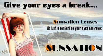 #18 para Design an Advertisement for Sunsation Lenses por akritidas21