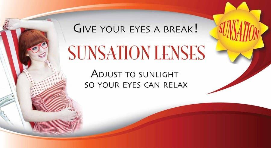 Inscrição nº 33 do Concurso para Design an Advertisement for Sunsation Lenses