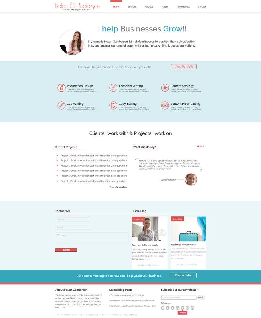 #21 for Design a Wordpress Mockup for portfolio by maxbt