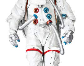 #7 para Illustrate/design a realistic Astronaut for printing por Headnhand