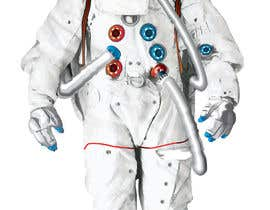 #8 para Illustrate/design a realistic Astronaut for printing por Headnhand