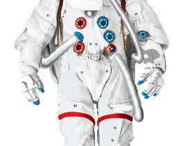 #11 para Illustrate/design a realistic Astronaut for printing por Headnhand