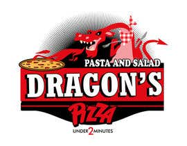 #34 untuk Develop a new logo for Dragon's Pizza oleh carlamartire
