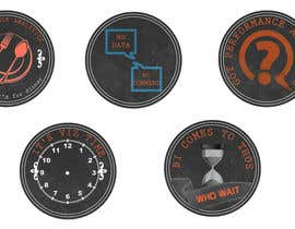 #10 for Design 4 (four) pieces of artwork to be used as badges / button pins af dhonivenkat